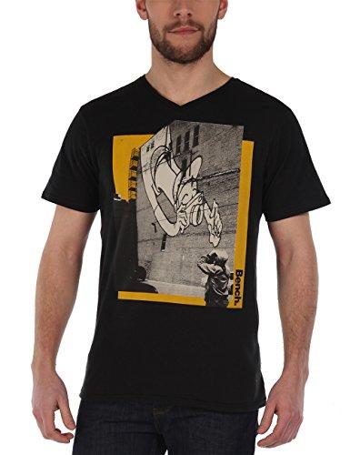 Bench - T-Shirt Big Tourist, Maglia a maniche lunghe Uomo, Nero (Jet Black), Large (Taglia Produttore: Large)