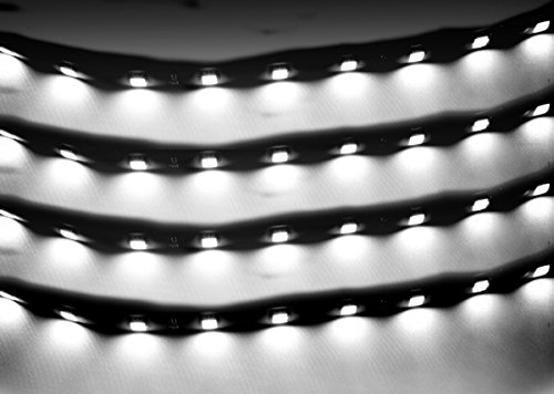 Zento Deals 30cm White LED Car Flexible Waterproof Light Strip (Pack of 4) (Automotive Led Accent Lights compare prices)
