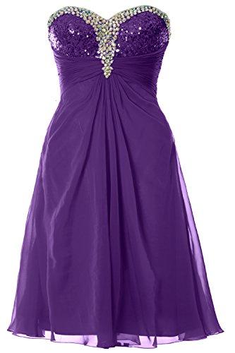 MACloth Women Strapless Sweetheart Crystal Short Prom Dress Formal Party Gown (26w, Purple) (80s Fancy Dress Plus Size)