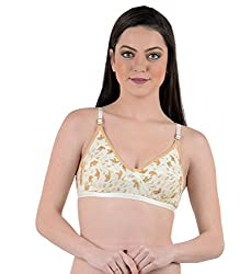 AnS Enterprise Women's Cotton Material Bra in Gold Color- 30