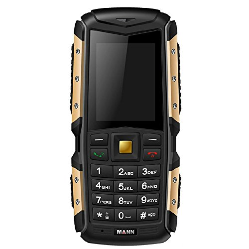 HAMSWAN® IP67 Waterproof Mobile Phone Dustproof Shockproof Rugged Outdoor Cell Phones Camera Bluetooth Cheap Phone with Cleaning Cloth (Gold)