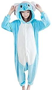 VonFon Unisex Adult Kigurumi Pajamas Anime Cosplay Costume Elephant Pajamas Size M Blue