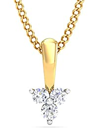 P.N.Gadgil Jewellers 18k Yellow Gold And Diamond Single Chain Pendant