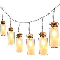 Oak Leaf 9.8 ft 30 LEDs Vintage Clear Glass Jar LED Fairy Lights