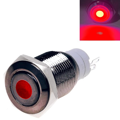 Super Green Store 5 12v 16mm Black Push Button Switch Momentary Dot Illuminated Red Led Metal Waterproof Linda D Amesker