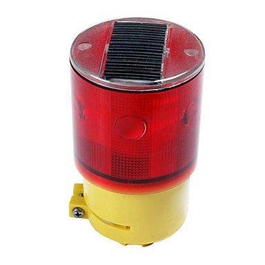 Xiqi Solar Powered Led Light Barricade Flashing Warning Safety Sign 6-Led Flash Traffic Led Light (Red)