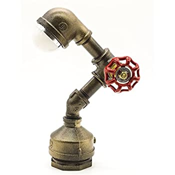 Y-Nut Loft Style Vintage Metal LED Table Lamp,