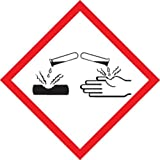 Accuform Signs LZH614PS2 GHS Pictogram Label, CORROSION, 2