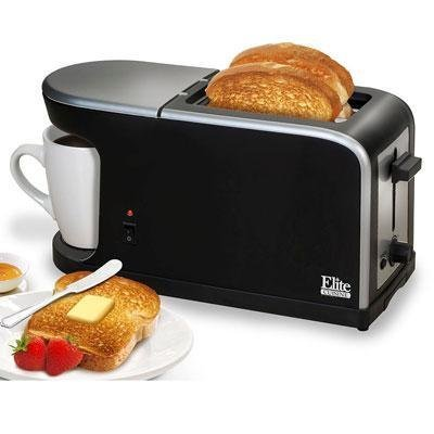 Elite Cuisine ECT-819 MaxiMatic 2-in-1 Dual Function Breakfast Station Toaster and Coffee by Elite Cuisine (Oven Toaster With Coffee Maker compare prices)