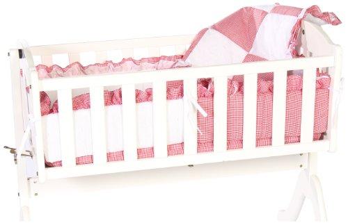 Imagen de Baby Doll Bedding guinga Cuna Ropa de cama Set, Red
