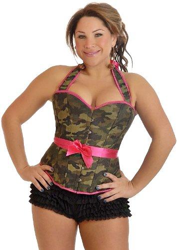 Daisy Corsets Plus Size Camouflage Halter Pin-Up Burlesque Corset