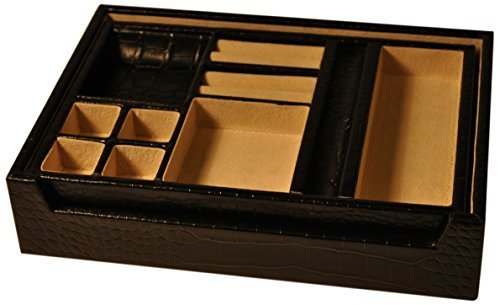 budd-leather-croco-grain-leather-open-valet-with-lift-out-tray-black-by-budd-leather