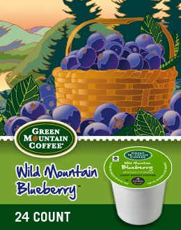 Green Mountain Coffee Wild Mountain Blueberry, K-Cup Portion Pack for Keurig K-Cup Brewers