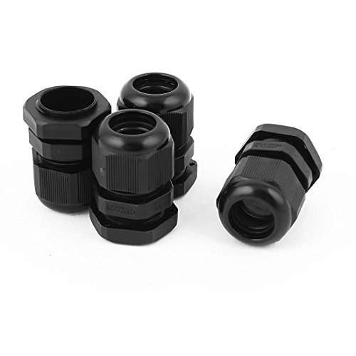 4 Pcs M22 1/2 NPT Strain Relief Cord Grip Cable Gland Locknut M22x1.5 (Appliance Cord Strain Relief compare prices)
