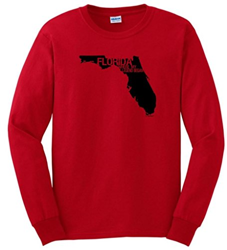 Florida Where My Legend Began State Pride Long Sleeve T-Shirt Large Red
