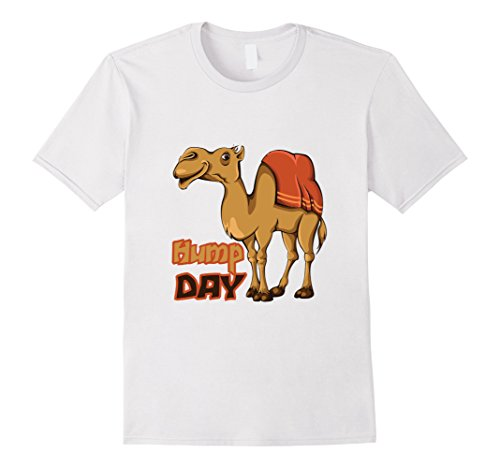 Men's Happy Hump Day Shirt Camel Toe Wednesday Cute Funny Work Tee Large White