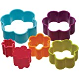 Colourworks Plastic Flower Shaped Pastry/Cookie Cutters (Set of Six)