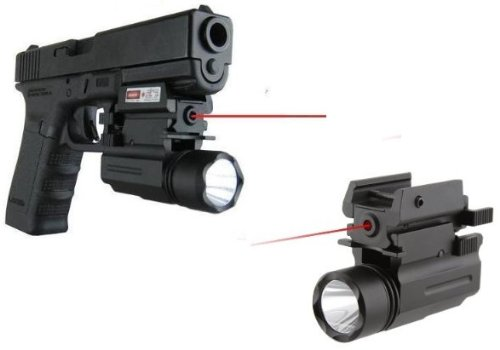 Ultimate Arms Gear Gen Tactical Compact Qd Led Flashlight Light Red Dot Laser Sight Combo For Springfield Armory Xdm 38 45 Xd 45 Barrel Pistol Gun With A Front Weaver Picatinny Rail by Ultimate Arms Gear