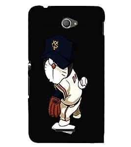 EPICCASE Dorae sports Mobile Back Case Cover For Sony Xperia E4 (Designer Case)