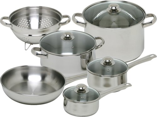 Magefesa Vesta Stainless Steel 10 Piece Cookware Set