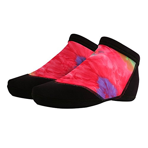 Sand Soles Sand & Water Sports Socks - Low Top - Designed for Both Beach and Water Sports - Non-Slip Gryptite Sole - Premium Quality Made in the USA (Tie Dye, M) Dye Volleyball Spandex