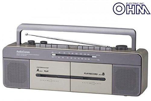 OHM ダブルラジカセ RCS-W877M