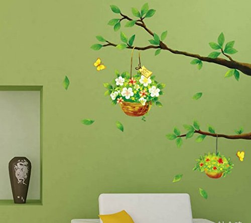 Twig Basket Restaurant Living Room Decorated Stickers front-292498