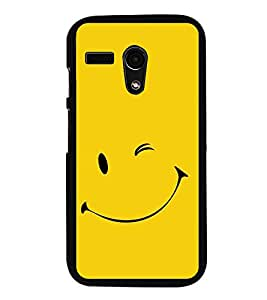 Smile 2D Hard Polycarbonate Designer Back Case Cover for Motorola Moto G :: Motorola Moto G (1St Gen)