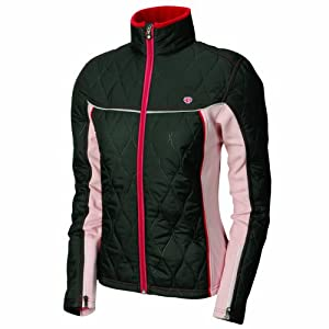 Pearl iZUMi Women's Insula Tour Jacket,Black/Silver Pink,Large