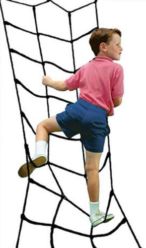 Climbing Cargo Net Black For Swing Set Play Set Or Jungle Gym Playground front-209393