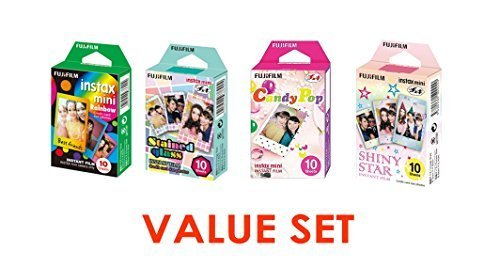 Best Buy! Fujifilm InstaX Mini Instant Film Rainbow & Staind Glass & Candy Pop & SHINY S...
