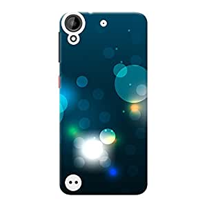 INKIF Circles Abstarct Designer Case Printed Mobile Back Cover for HTC Desire 530 (Blue )