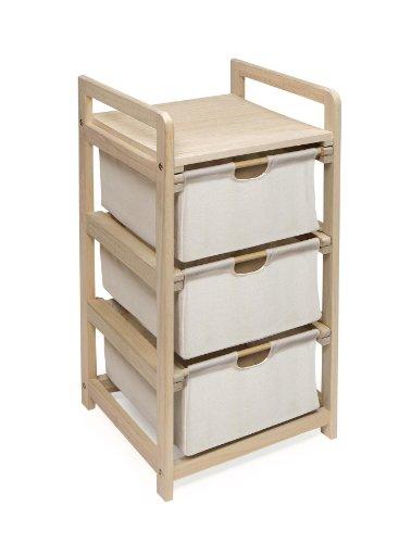 Badger Basket Three Drawer Hamper/Storage Unit
