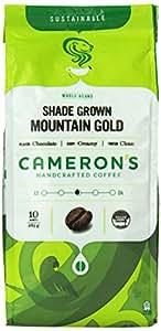 CAMERON'S Organic Whole Bean Coffee, Mountain Gold, 10-Ounce