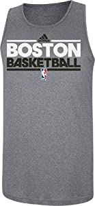 Adidas Boston Celtics Slim Fit Pre-Game Clima Fabric Tank Top by GametimeUSA