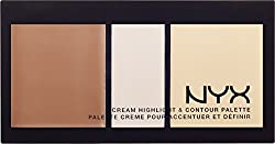 nyx cream highlight & contour palette - light
