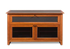BDI Novia 8428, Double Wide Enclosed Cabinet - Natural Stained Cherry