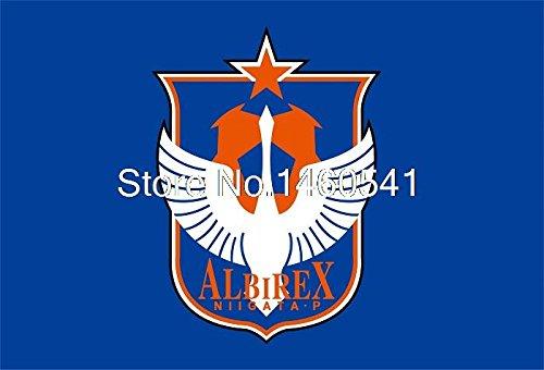 アルビレックス新潟シンガポールFC 3フィートのx 5フィートポリエステルサッカーリーグバナー144 * 96センチメートルカスタムフラグ(Metal Holes)