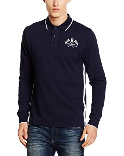 Hackett London Polo Lrc Back Nbr Azul Oscuro