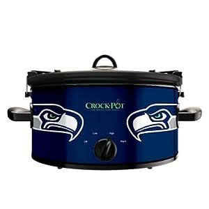 Official NFL Crock-pot Cook & Carry 6 Quart Slow Cooker - (Seattle Seahawks)