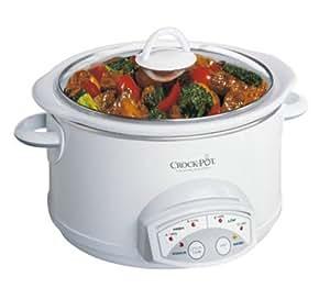 Crock-Pot 38501-W 5-Quart Round Smart-Pot Slow Cooker, White