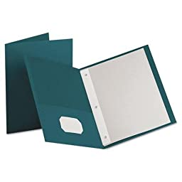 OXF57755 - Oxford Twin Pocket 3-hole Fastener Folders