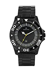 Maxima Analogue Black Dial Men's Watch - 35970CAGB
