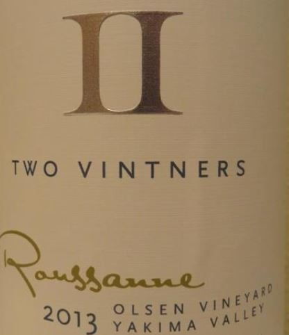 2013 Two Vintners Olsen Vineyard Roussanne 750 Ml