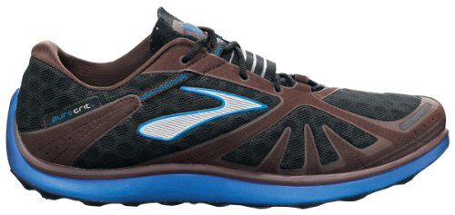 48b43c373911c Brooks Mens PureGrit Running Shoes Color  BrillBlue Java Blk Alloy Size