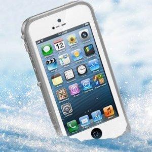 No brand iPhone5 5s 防水・防塵・防雪・耐衝撃のスーパーケース スーパースリム耐衝撃保護ケース アイフォン5 5s用 ホワイト