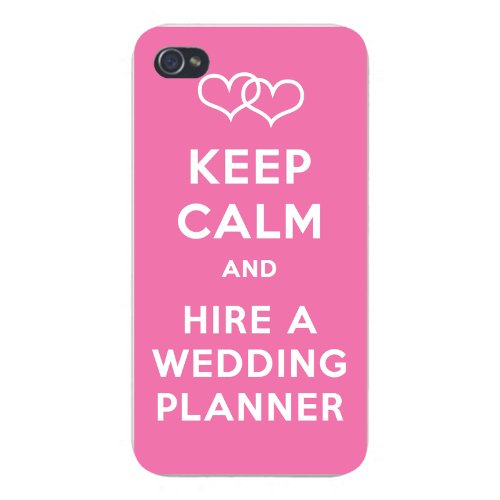 Apple Iphone Custom Case 5 5s Snap on - Keep Calm and Hire a Wedding Planner