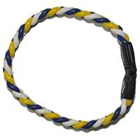 [コランコラン] COLANCOLAN smart TWIST smart(ツイストスマート) ブレスレット 青白黄 Mサイズ CC-006-M