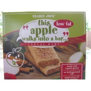 Trader Joe'S This Apple Walks Into A Bar Cereal Bars (Low Fat). 1 Box Contains 6 Bars
