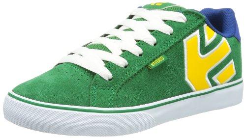 Etnies Unisex - Child KIDS FADER VULC Low Green Grün (GREEN/WHITE/YELLOW 312) Size: 39.5